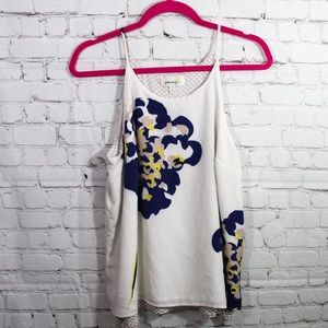 Anthropologie porridge layered blouse